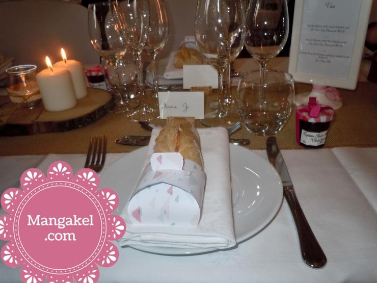 décoration de table mariage , grange de Porcherieux