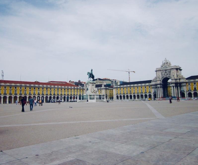 place du commerce, Lisbonne