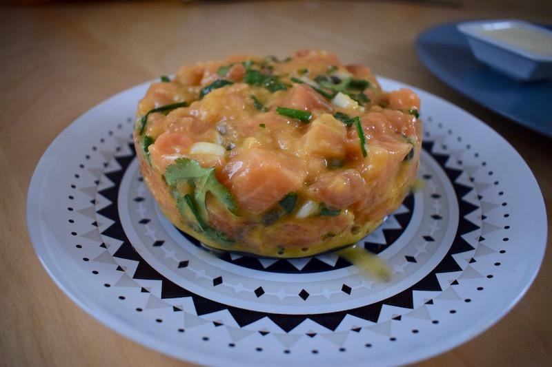 tartare de saumon (fiche CAP cuisine n°25)
