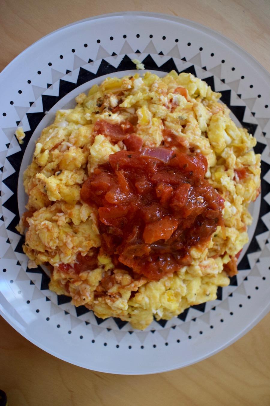 Œufs brouillés portugaise fiche CAP Cuisine 48