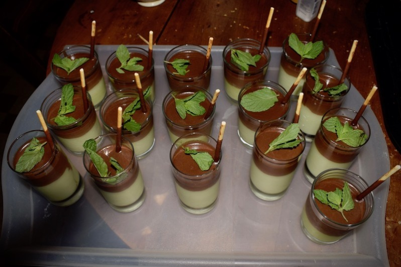 verrines menthe chocolat