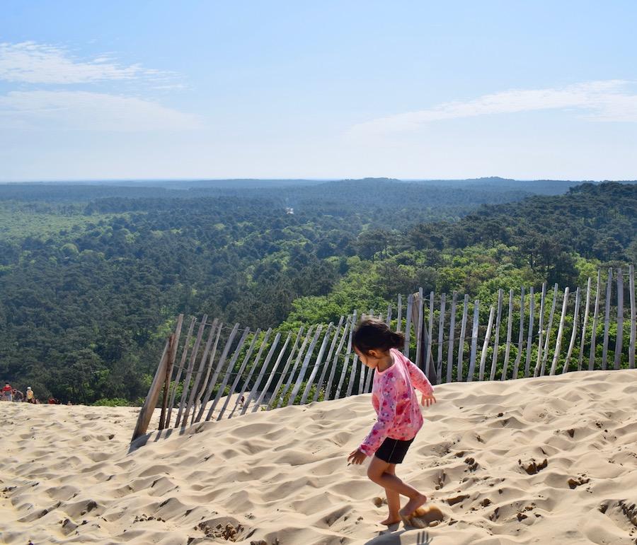 En haut de la Dune du Pilat Landes
