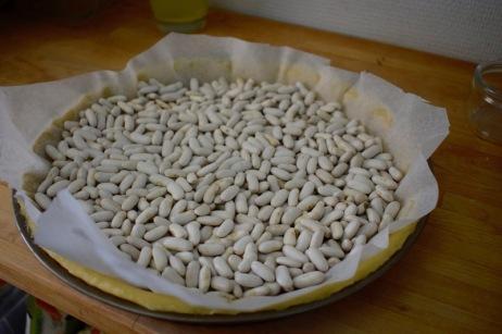 haricots à mettre sur la pâte pour une cuisson à blanc