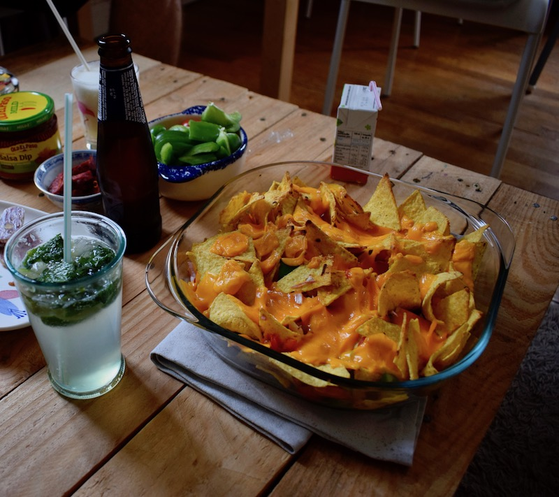 nachos maison, chips tortillas