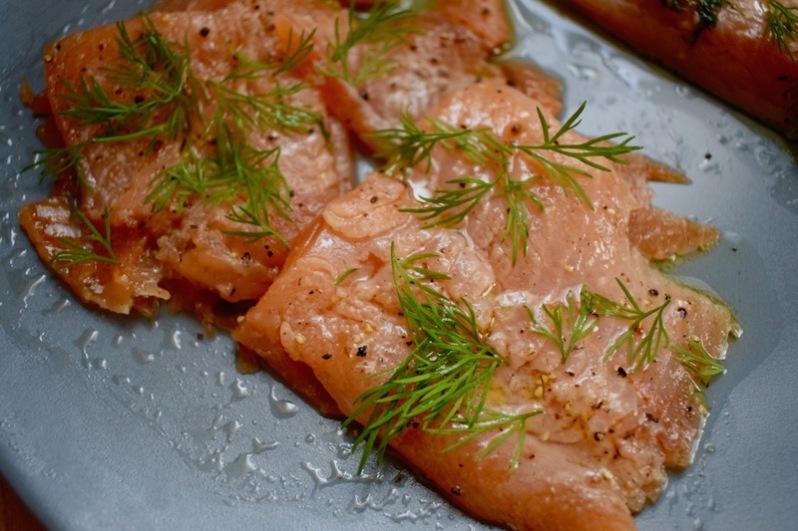 saumon gravad lax, saumon mariné