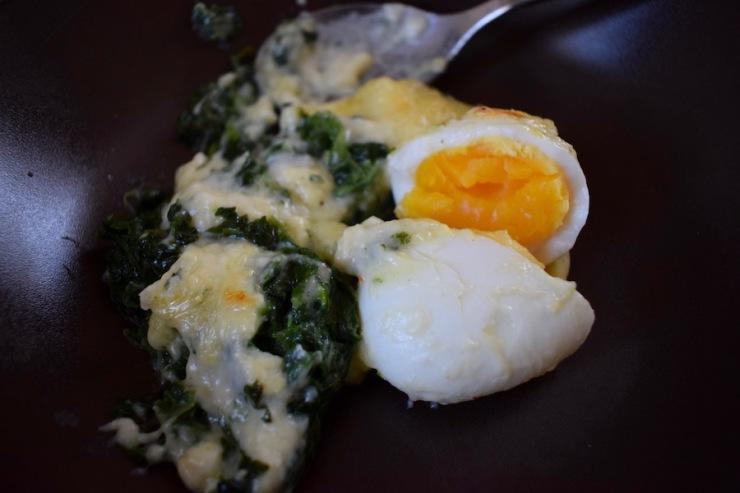 œufs mollets florentine, cap cuisine