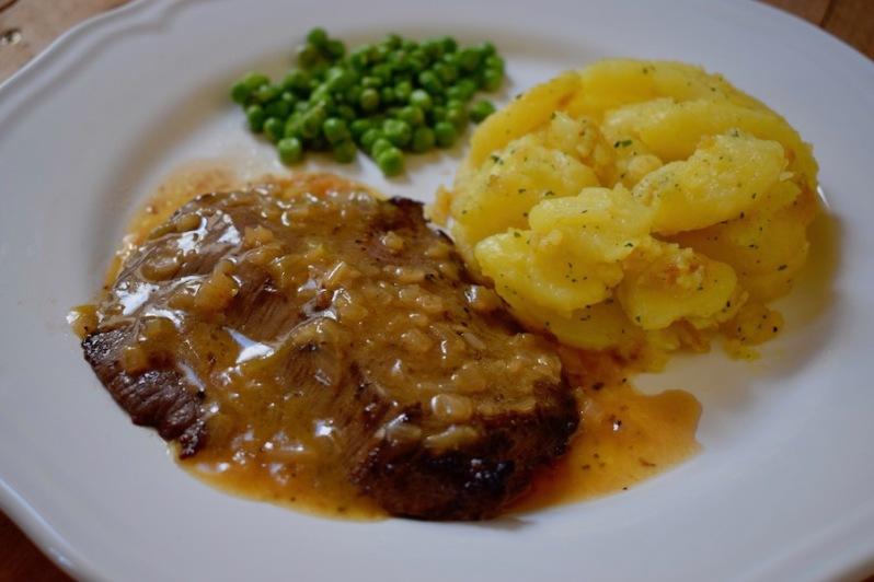 Steaks sautés Bercy & Pommes miettes