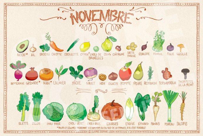 Claire-Sophie LOZIA, fruits et légumes de novembre