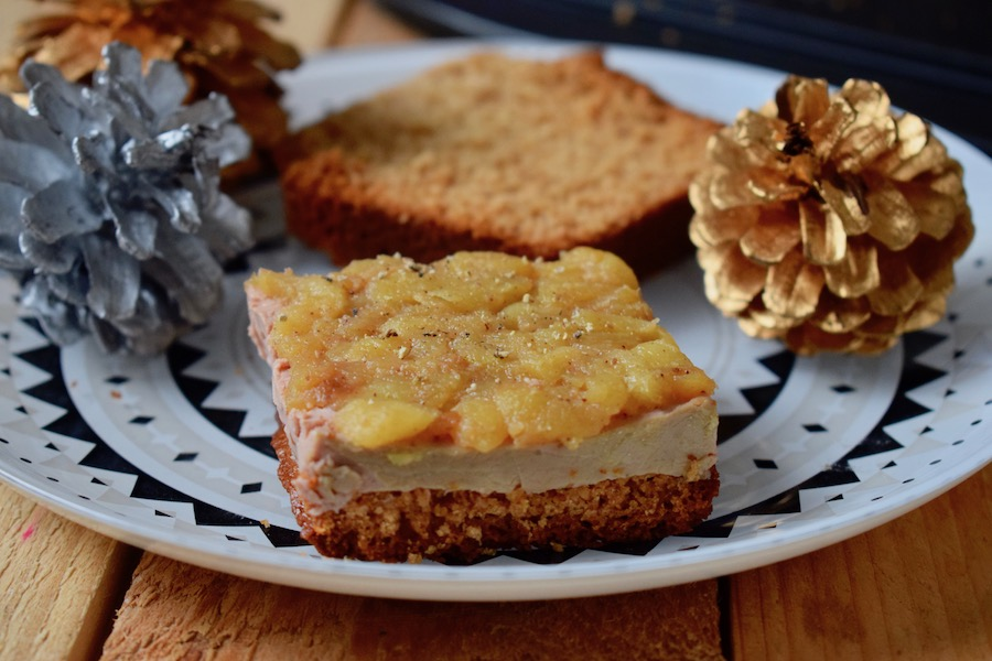 Mini tatins de foie gras aux pommes et au pain d'épices maison