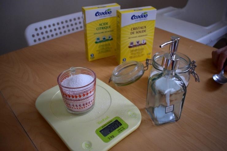 poudre pour lave-vaisselle zéro déchet