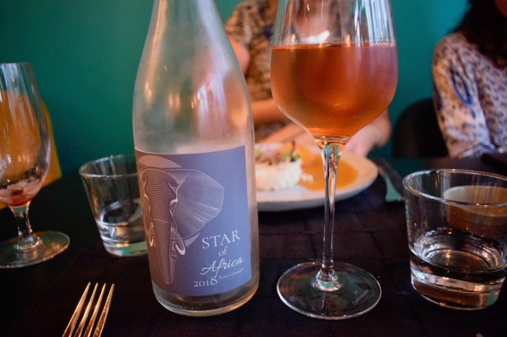 Restaurant L'Akan à Tours : Rosé d'Afrique du Sud