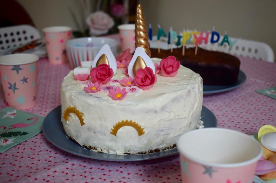 gâteau licorne tout citron , chiffon cake