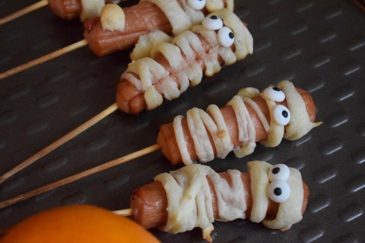 saucisses momies, Halloween - Mangakel