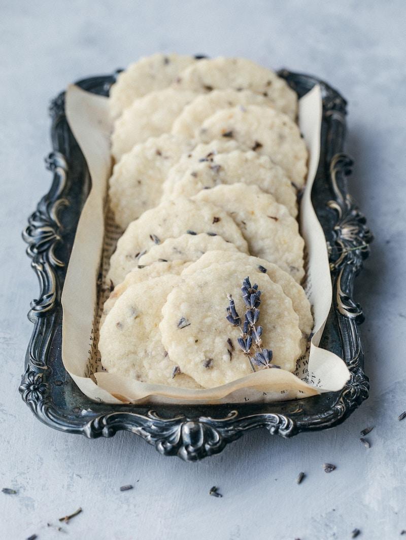 shortbread à la lavande